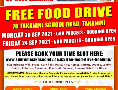 Food Parcels Drive on 20 and 24 Sep 2021